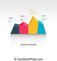 diagramme, graphique, editable, diagramme, business