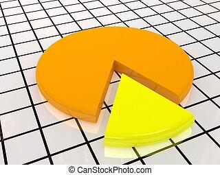 diagramme, jaune