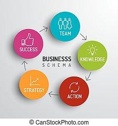 diagramme, minimalistic, business, schéma