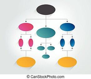 diagramme, organigramme, scheme., element., infographic
