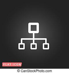diagramme, réseau, bloc