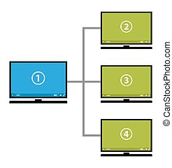 diagramme, vidéo