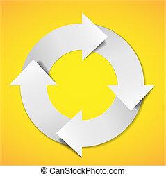 diagramme, vie, vecteur, cycle
