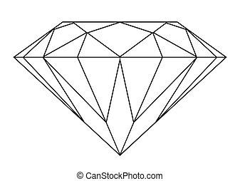 diamant, contour
