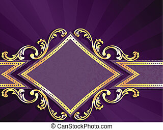 diamant, or, formé, pourpre, &, bannière