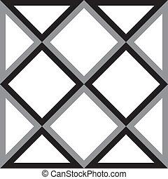 diamant, triangle, résumé, carrée, fond, trydimensional, illusion