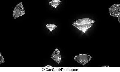 diamants, tomber