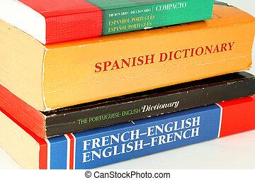 dictionnaires, langue