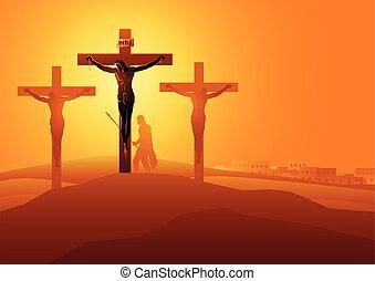 dies, jésus, croix