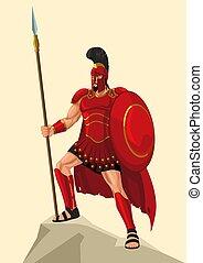 dieu, ares, grec, guerre