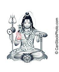dieu, suprême, shiva