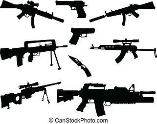 différent, collection, armes