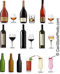différent, ensemble, boissons