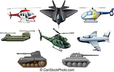 différent, guerre, transportations