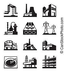 différent, industriel, const, types
