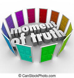 différent, moment, choisir, vérité, sentier, options, mieux