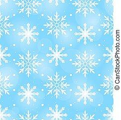 différent, papier peint, seamless, flocons neige