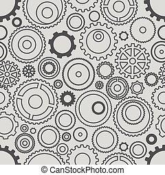 différent, schéma pignon, seamless, wheels., illustrati, minimalisme, ou