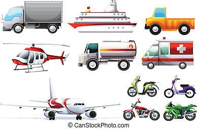 différent, transportations