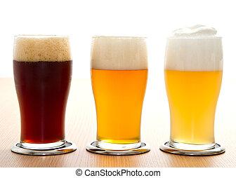 différent, type, bière