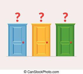 difficile, portes, choix