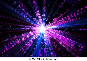 digitalement, laser, fond, engendré