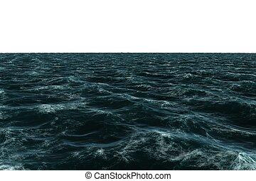 digitalement, mer, engendré, rugueux, bleu