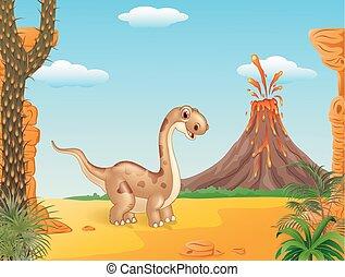 dinosaure, adorable, mignon
