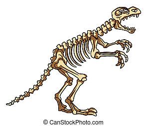 dinosaure, fossile