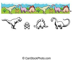 dinosaure, frise