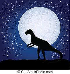 dinosaure, lune