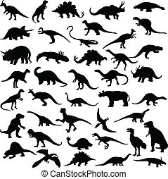 dinosaure, reptiles
