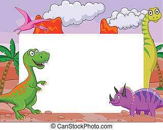 dinosaure, signe blanc