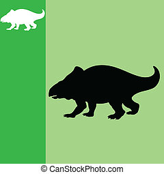 dinosaure, vecteur, art, illustration