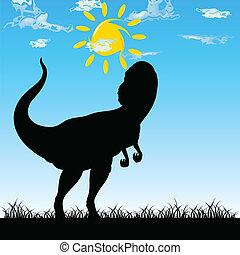dinosaure, vecteur, art, illustration, nature