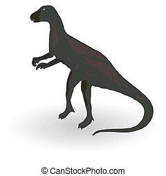 dinosaure, vecteur, illustration, une