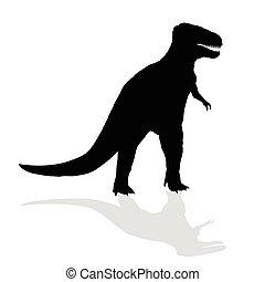dinosaure, vecteur, silhouette