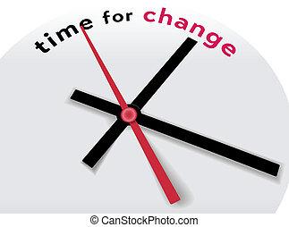 dire, mains, temps, changement, horloge