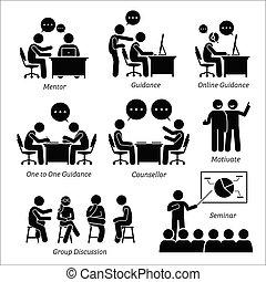 direction, business, executive., mentor, entraîneur