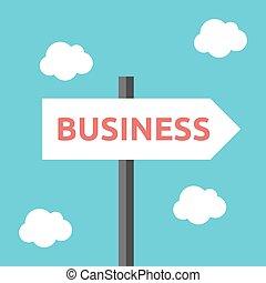 direction, business, panneaux signalisations