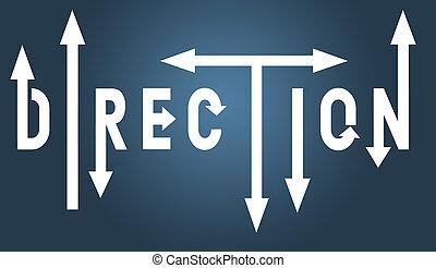 direction, flèches