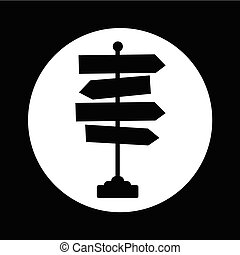 direction, illustration, signe, conception, route, icône