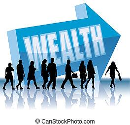 direction, -, richesse
