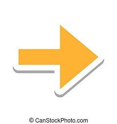 direction, symbole, flèche