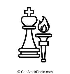 direction, torche, conception, illustration