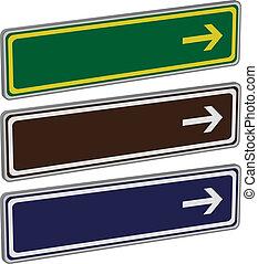 direction, vecteur, signes