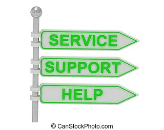 """directionnel, 3, """"service"""", """"support"""", signes, """"help"""""""