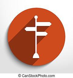 directionnel, vecteur, icône, signes