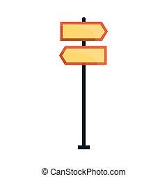 directionnel, vecteur, route, illustration, signes