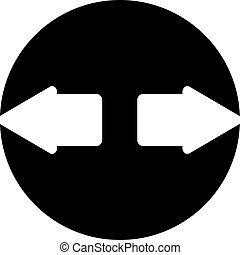 directions, flèches, deux, pointage, opposé